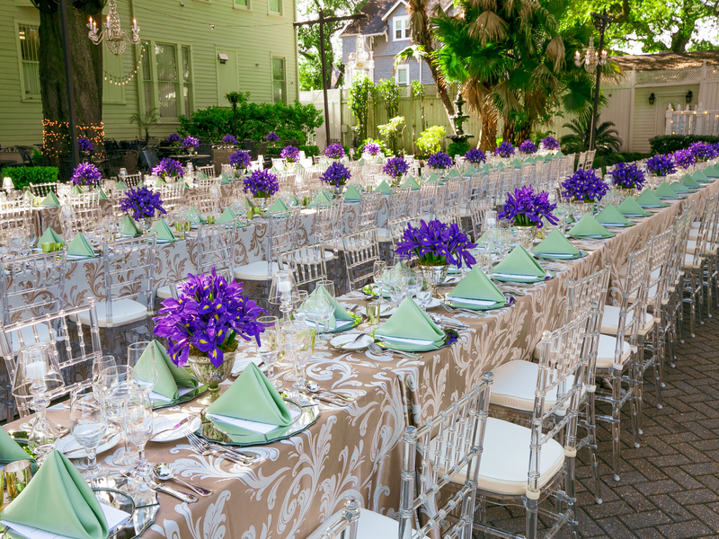 Clear Chiavari and Tuscany Linen