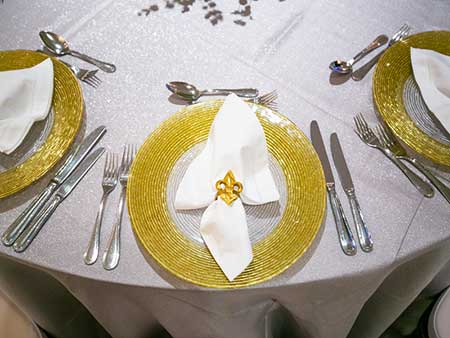 Yur Event Rentals rents wedding accessories in the New Orleans area
