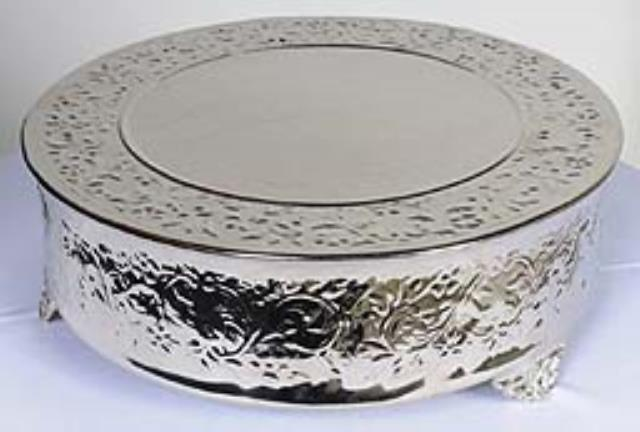 Where to find Silver Cake Stand Round 18 in New Orleans