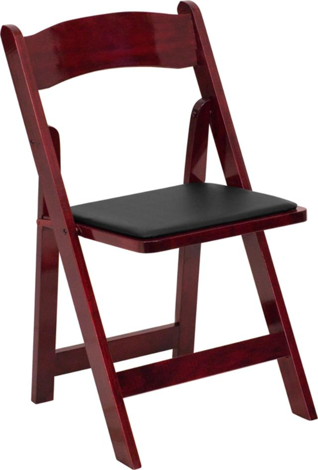 Where to find Mahogany Wood Folding w  Black Seat Pad in New Orleans