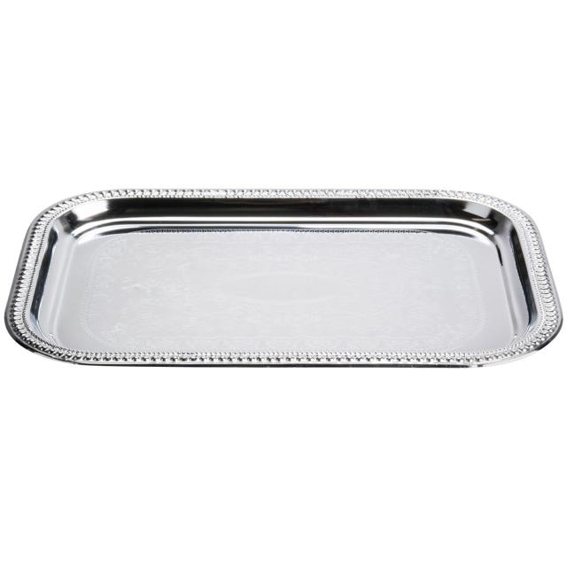 Where to find Silver 18 x12  Rectangle Serving Tray in New Orleans