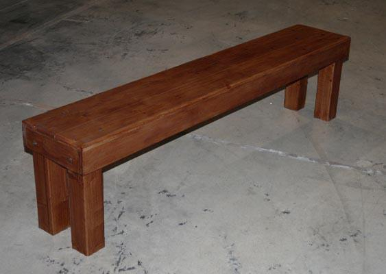 Where to find Bench Dark Walnut Farm Style 8 in New Orleans