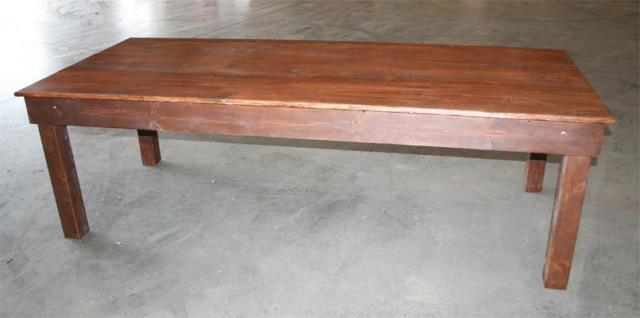 Where to find 8  x 40  Dark Walnut Farm Table in New Orleans