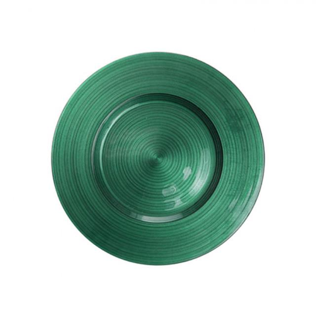 Where to find Emerald Green Ripple Glass Charger 13 in New Orleans