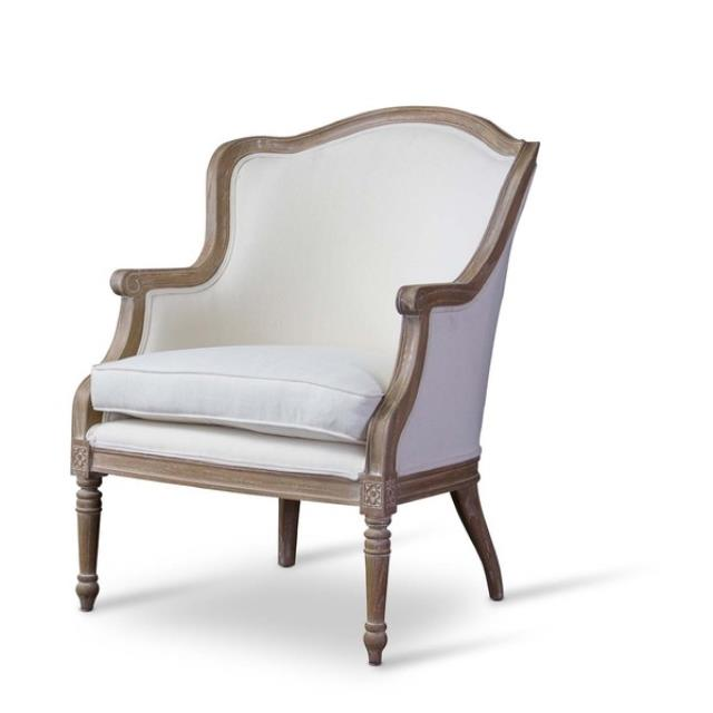Where to find French Accent Chair with Arm- Oak Finish in New Orleans