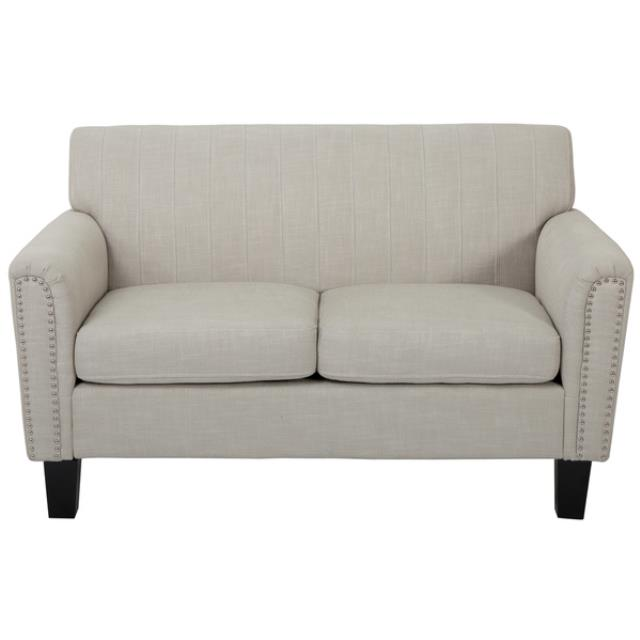Where to find Linen Loveseat- Light Grey in New Orleans