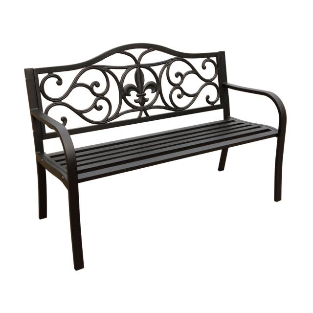 Where to find Bench Fleur De Lis Bench Steel in New Orleans