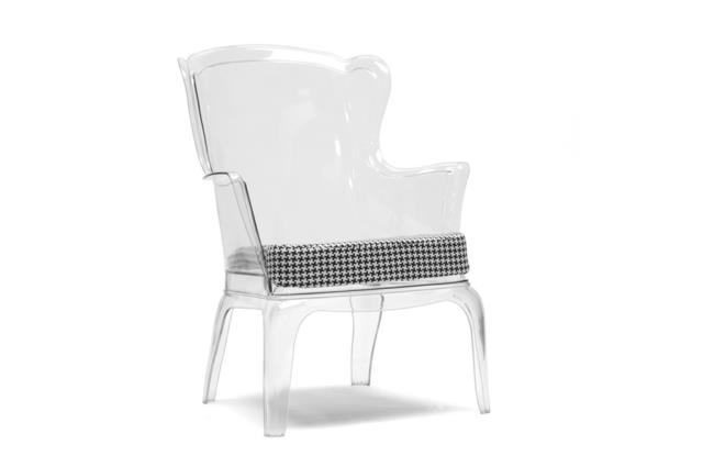 Where to find Clear Wingback Lounge Chair in New Orleans