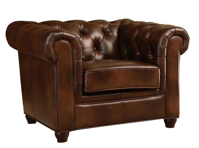 Where to find Brown Leather Tufted Chair in New Orleans
