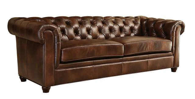 Where to find Brown Leather Tufted Sofa in New Orleans
