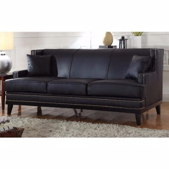 Where to find Black Nailhead Leather Sofa in New Orleans