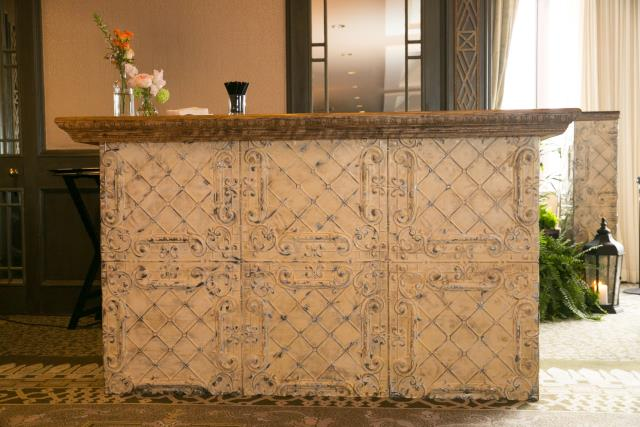 Where to find Rustic Ceiling Tile Bar Front in New Orleans