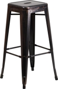 Rental store for Antique Gold Metal Barstool 30 H in New Orleans LA