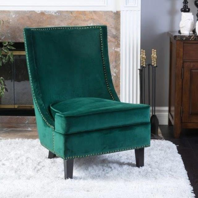 Where to find Velvet Green Accent Chair in New Orleans