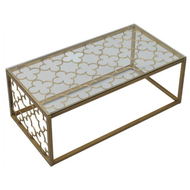Where to find Gold Metal and Glass Coffee Table in New Orleans