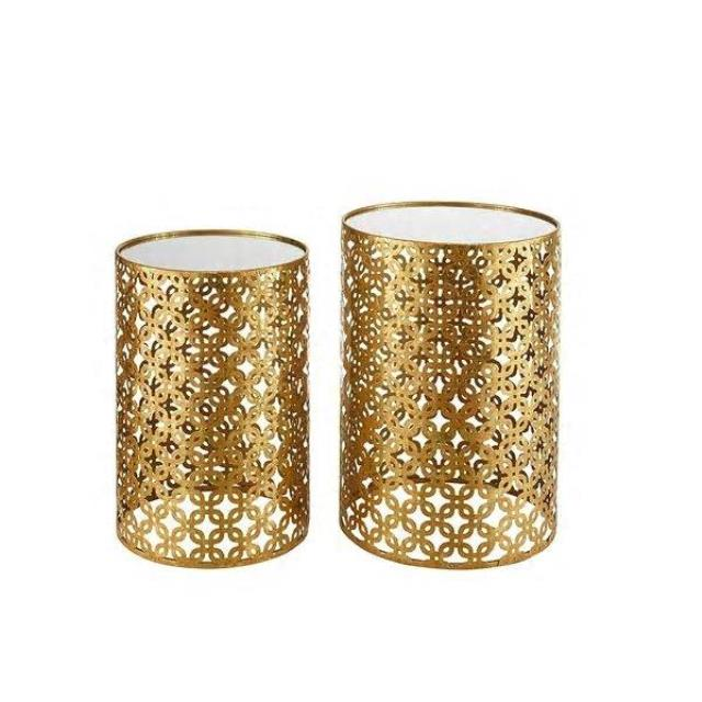 Where to find Pair of Round Gold   Mirror Side Tables in New Orleans