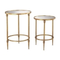 Rental store for Pair of Gold   Mirror Accent Tables in New Orleans LA
