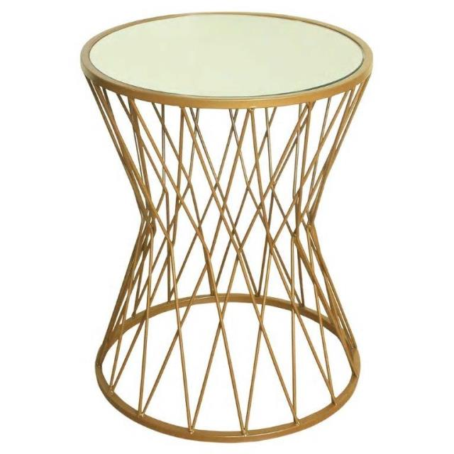 Where to find Gold Hour Glass Side Table in New Orleans