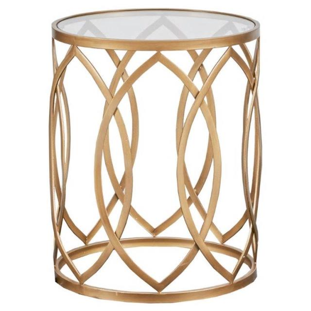 Where to find Gold Orchid Glass Side Table in New Orleans