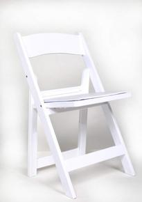 Where to find White Padded Resin Folding Chair in New Orleans
