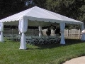 Rental store for 30x30 White Frame Keeder Tent Scallop in New Orleans LA